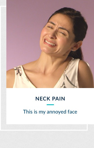 Neck Pain - This is my annoyed face