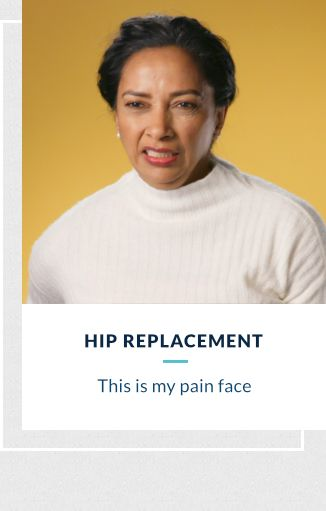 Hip Replacement - This is my pain face