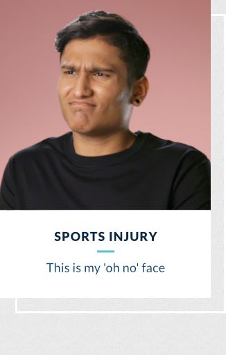 Sports Injury - This is my oh no! face
