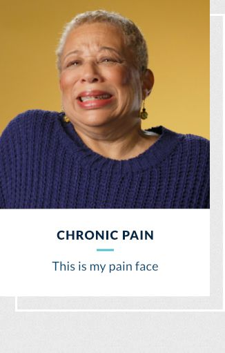Chronic Pain - This is my pain face