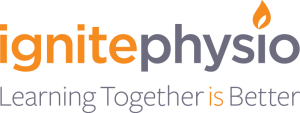 Ignite Physio tagline and logo image